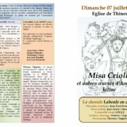 Concert à Thines (07) La Misa Criolla 🗓